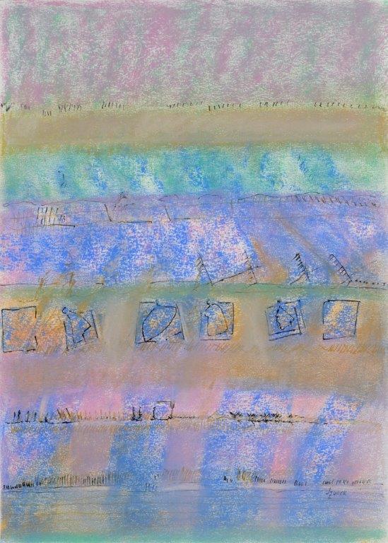 Dans le bleu - Giverny I